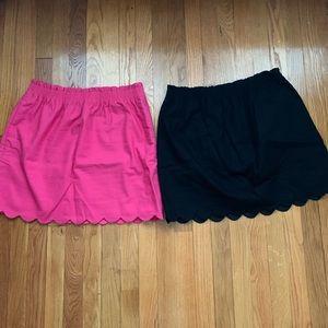 JCrew Scalloped Sidewalk Skirts (LOT OF 2)